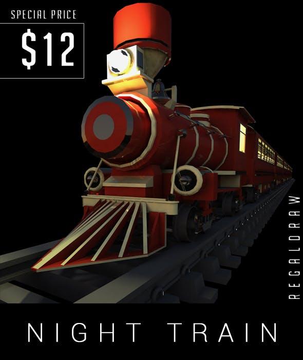 NIGHT TRAIN 3D MODELING - 3DOcean Item for Sale