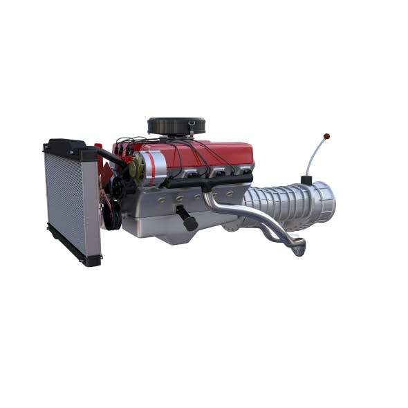 V8 Engine assembly