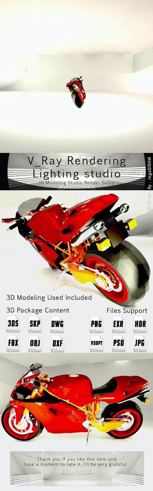 V_Ray Rendering Light Studio - 3DOcean Item for Sale