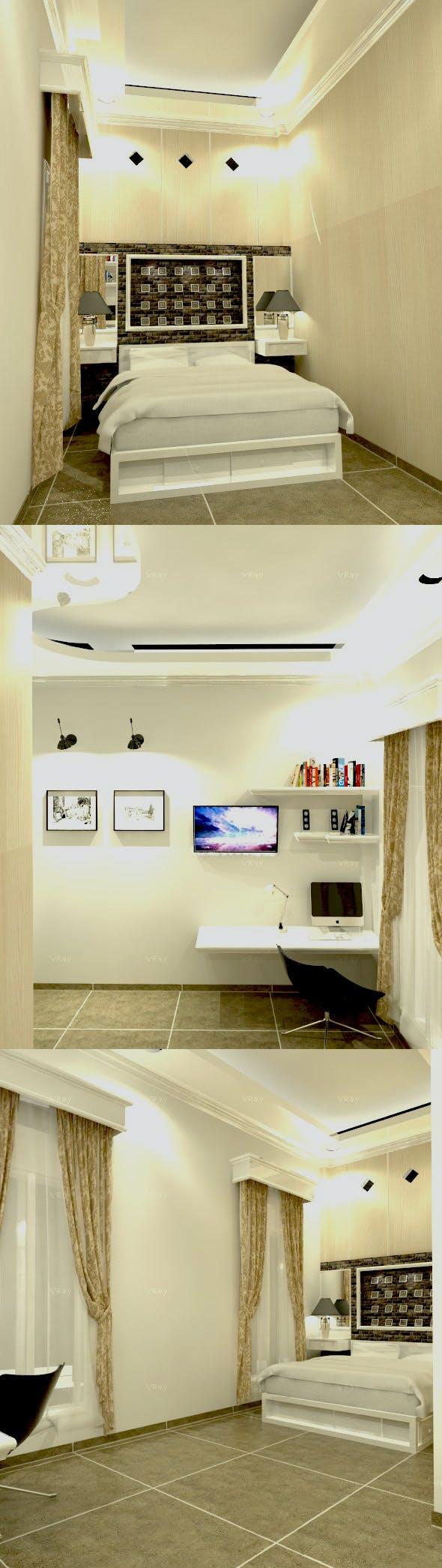3D BED ROOM INTERIOR DESIGN BALIKPAPAN REG 1 - 3DOcean Item for Sale