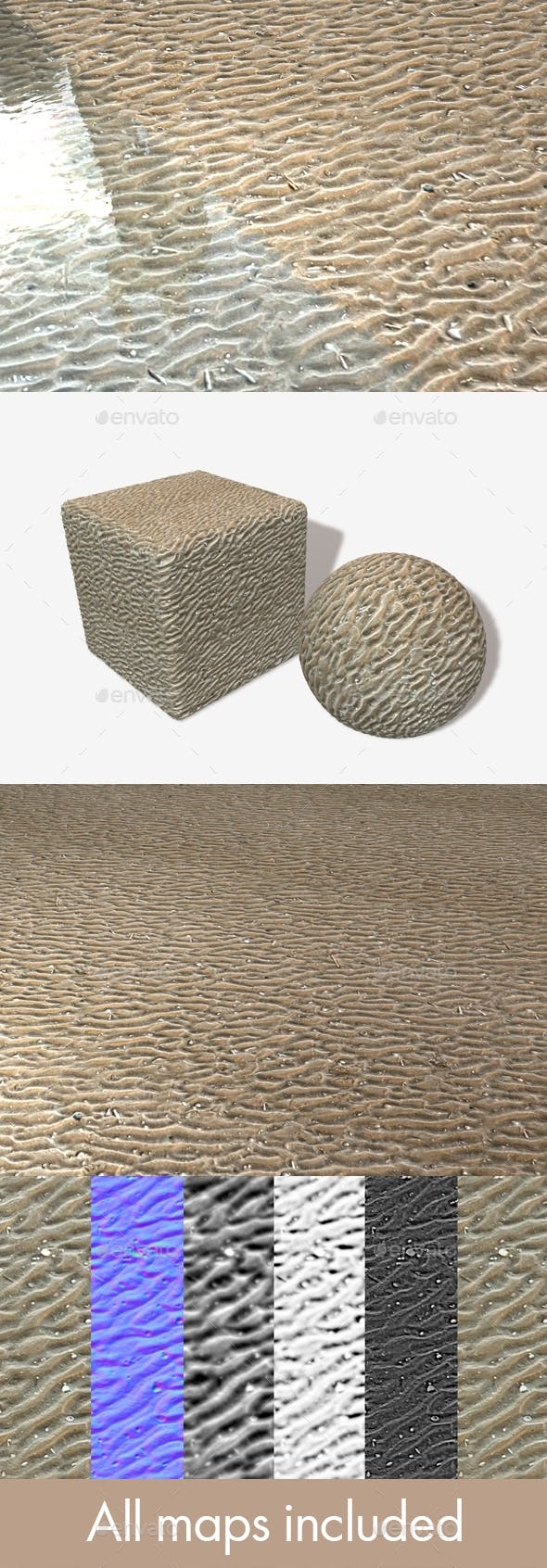 Rippled Sand Seamless Texture - 3DOcean Item for Sale