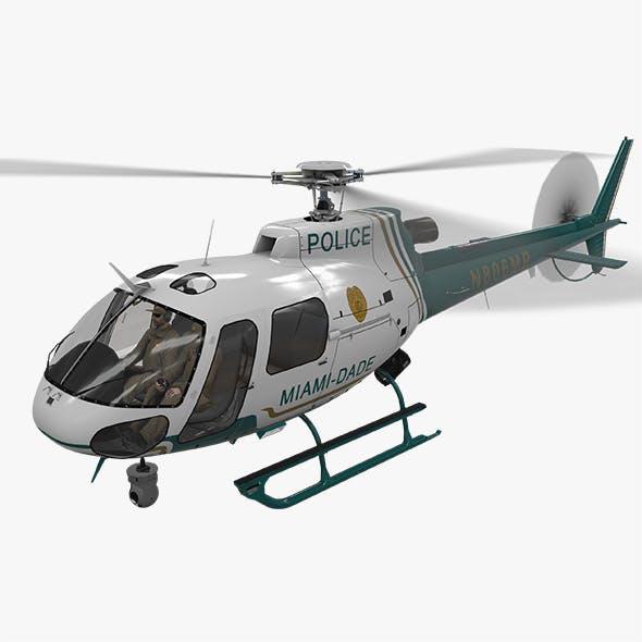 AS-350 Miami Dade Police Animated
