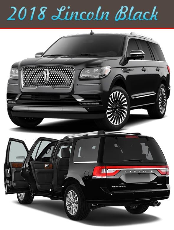 Black Lincoln navigator 2018-2019 (Full interior Design) - 3DOcean Item for Sale
