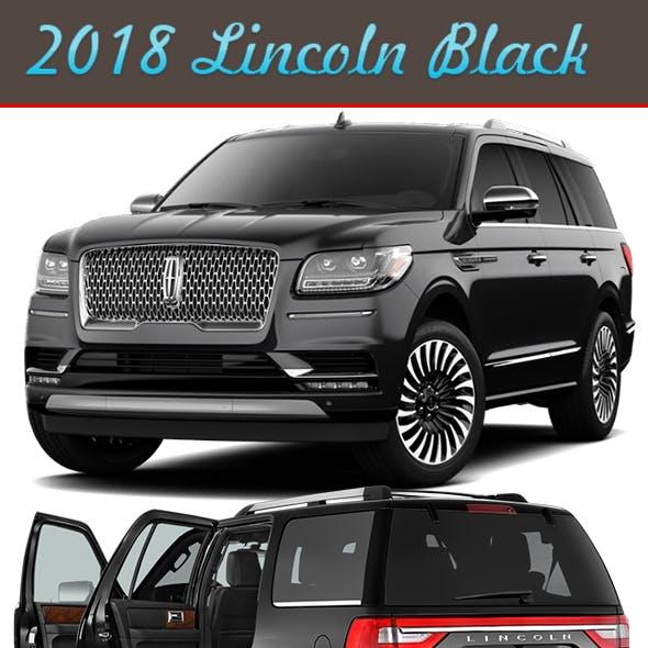 Black Lincoln navigator 2018-2019 (Full interior Design)