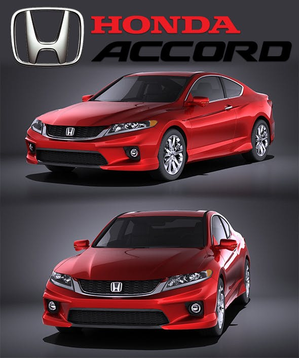 Honda Accord Coupe 2015 VRAY - 3DOcean Item for Sale