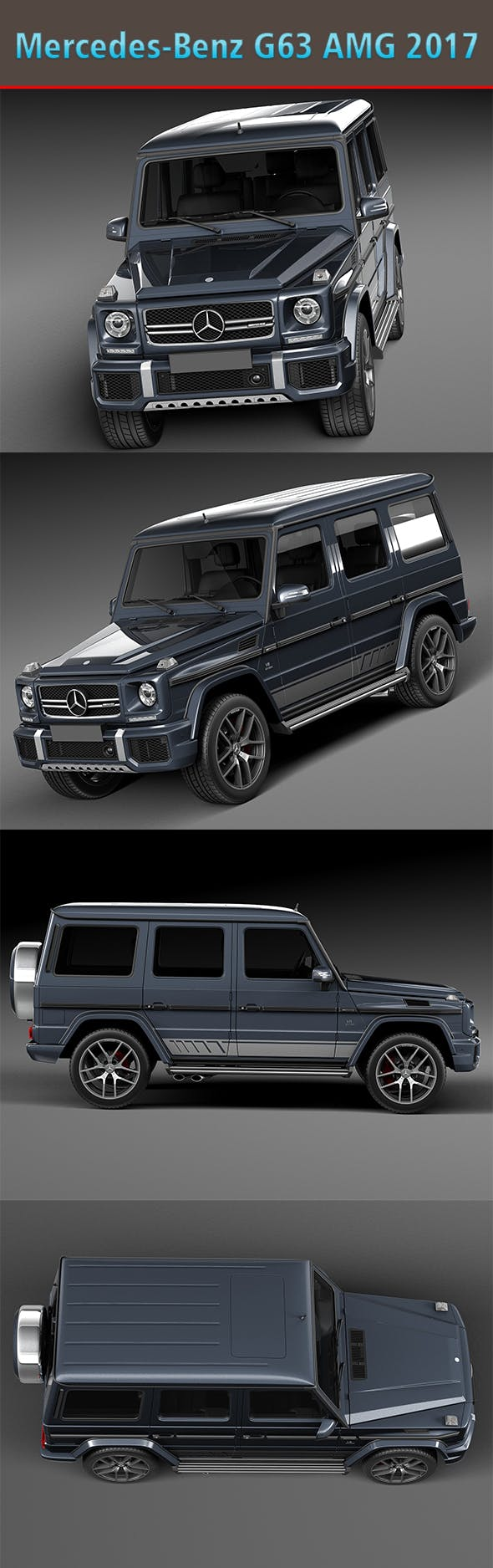 Mercedes-Benz G63 AMG 2017 - 3DOcean Item for Sale