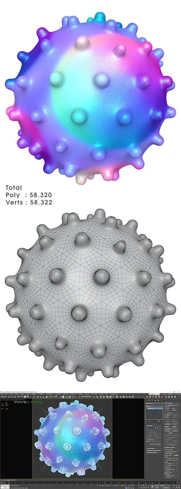 Virus 3D Model - 3DOcean Item for Sale