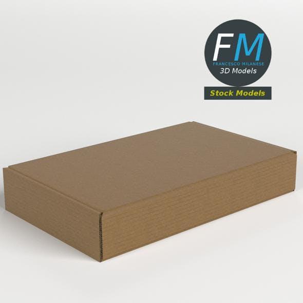 Closed carton box - 3DOcean Item for Sale