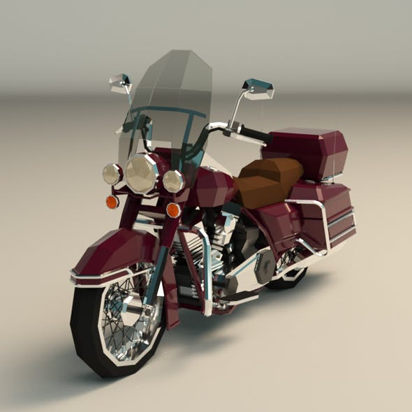 Low Poly Motorcycle 05