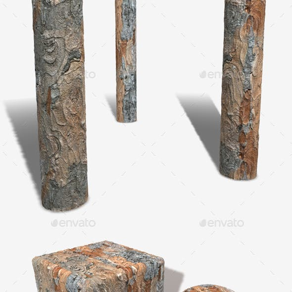 Swirling Tree Bark Seamless Texture 1