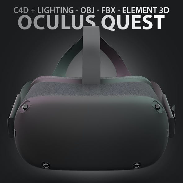 Oculus Quest Headset 3D Model