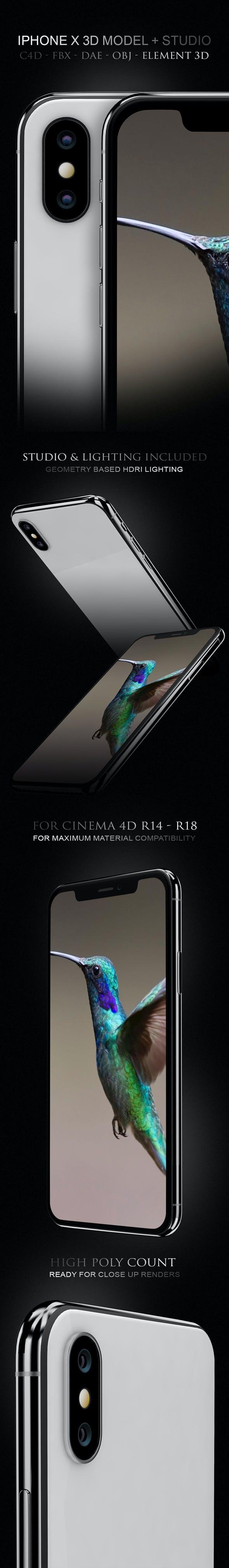 IPhone X 3D Model - 3DOcean Item for Sale
