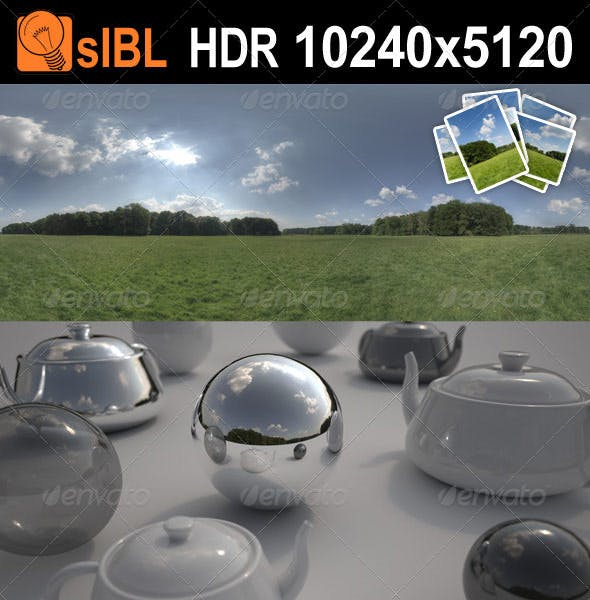 HDR 113 Meadow with Plates - 3DOcean Item for Sale