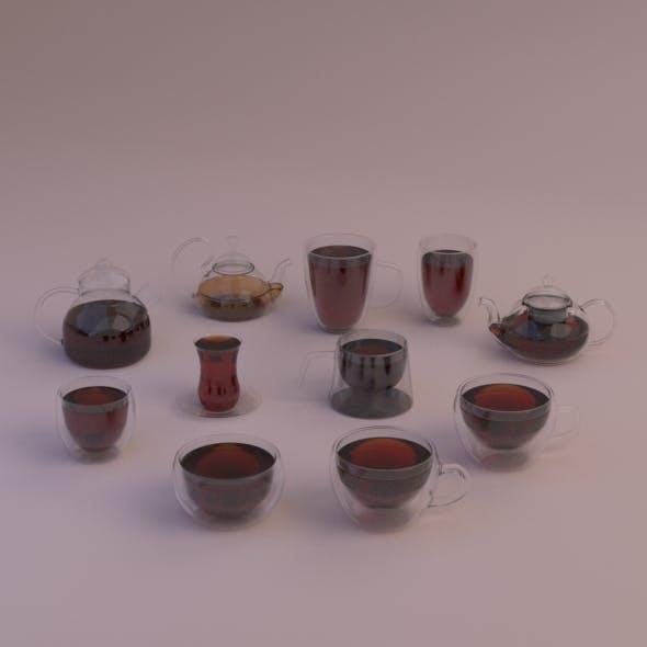 Set of glass crockery