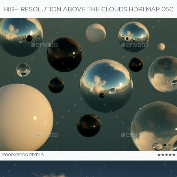 High Resolution Above The Clouds HDRi Map 050