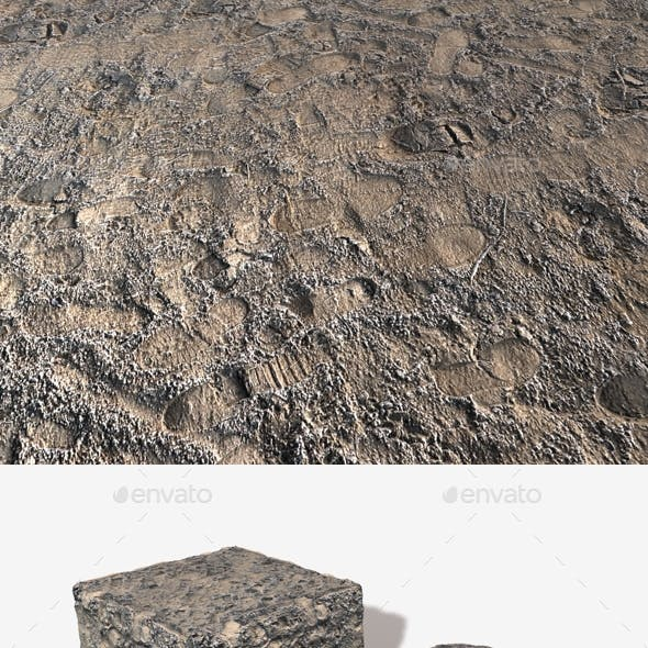 Frosted Sand Footprints Seamless Texture