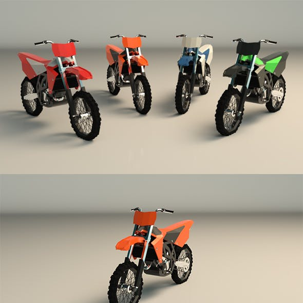 Low Poly Dirtbike 01