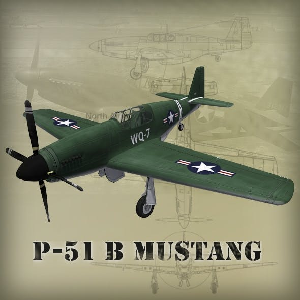 P-51B Mustang - 3DOcean Item for Sale