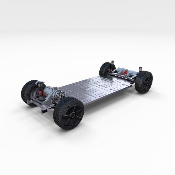 Tesla Cybertruck Chassis - 3DOcean Item for Sale