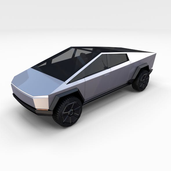 Tesla Cybertruck with chassis - 3DOcean Item for Sale