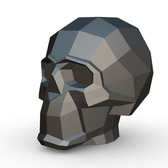 skull figure 3D print model