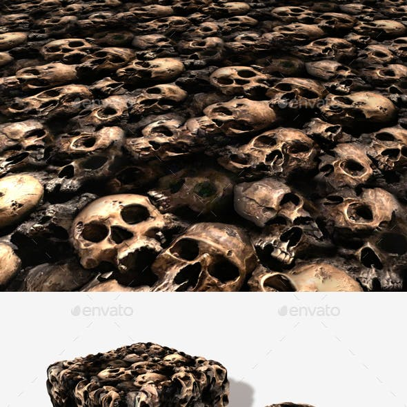 Broken Skulls in Mud Seamless Texture