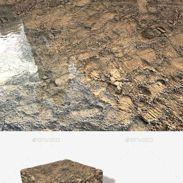 Sandy Footprints Seamless Texture