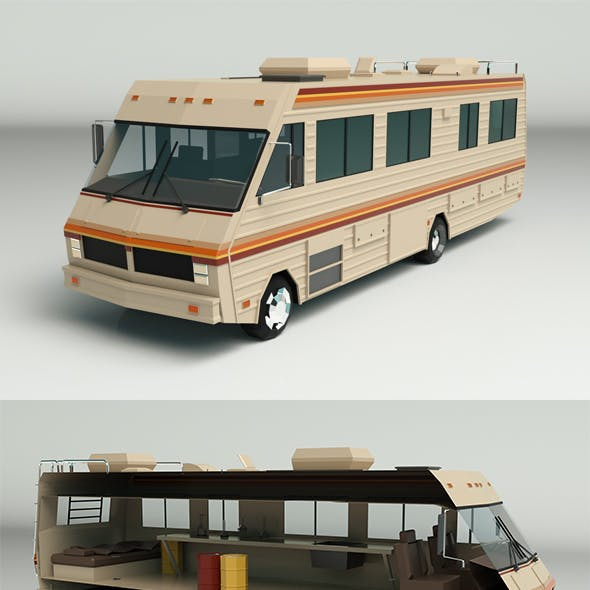 Low Poly Motorhome 02