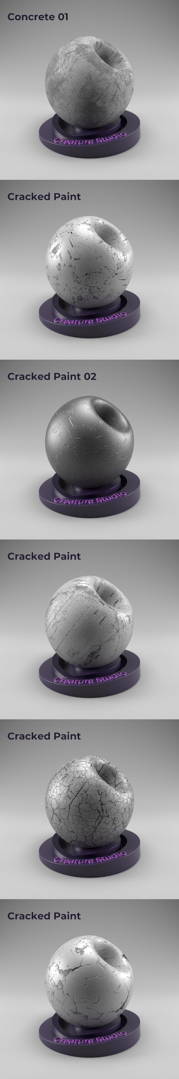 Redshift - Cracked Concrete Seamless - 3DOcean Item for Sale