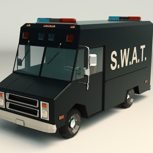 Low Poly SWAT Van