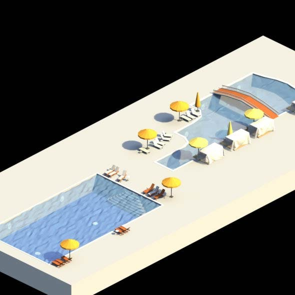 Low Poly Swimming Pools