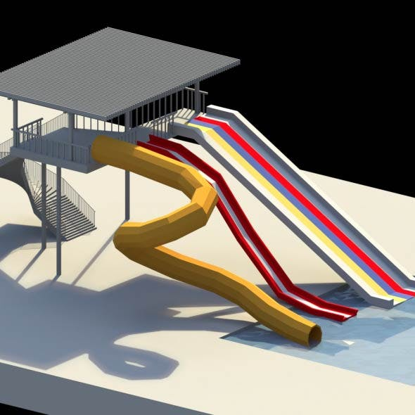 Low Poly Water Slides