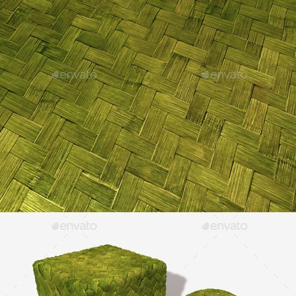 Woven Jungle Leaves Seamless Texture