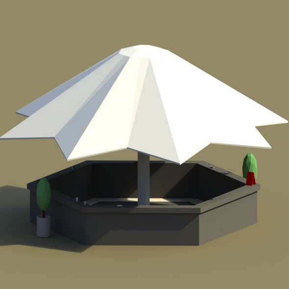 Low Poly Summer Bar 2 - 3DOcean Item for Sale