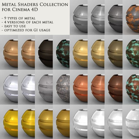 CINEMA 4D Metal Shaders Collection
