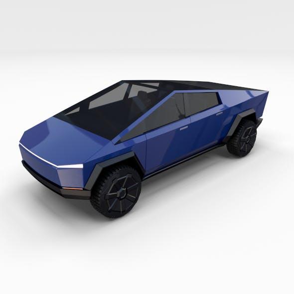 Tesla Cybertruck Blue - 3DOcean Item for Sale