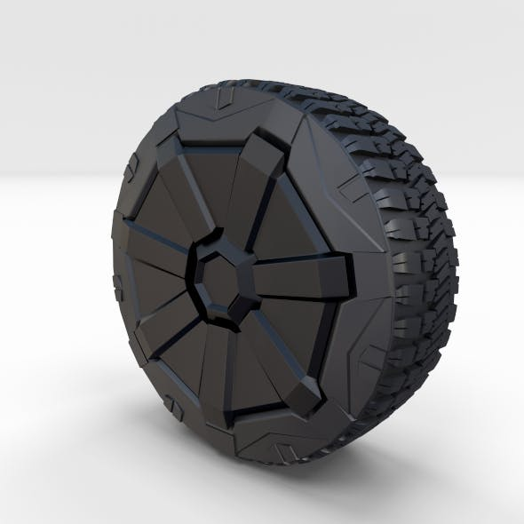 Tesla Cybertruck Wheel - 3DOcean Item for Sale