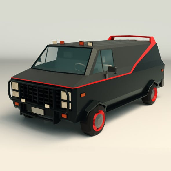 Low Poly A-Team Van