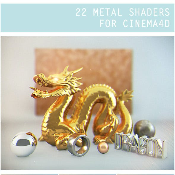 22 Metal Shaders for Cinema 4D