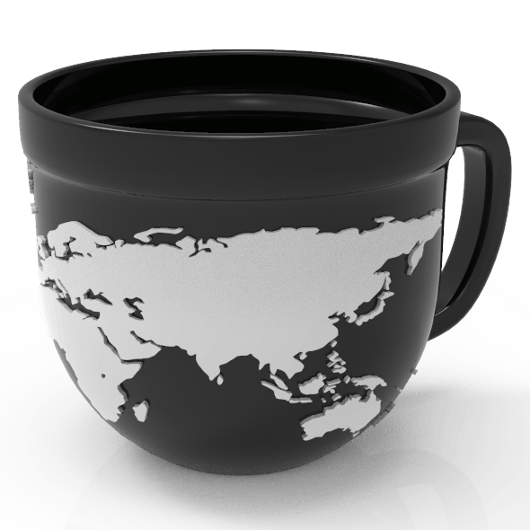 Mug World Map - 3DOcean Item for Sale