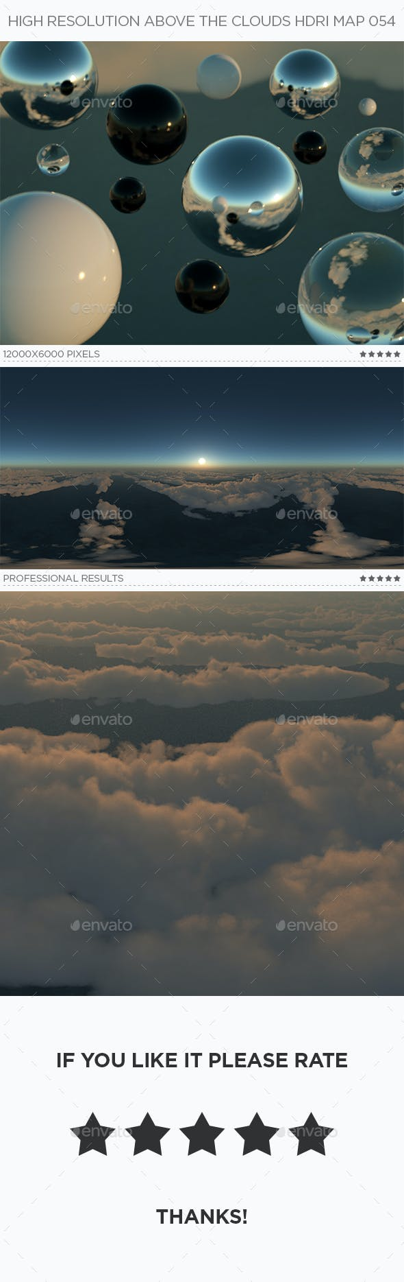 High Resolution Above The Clouds HDRi Map 054 - 3DOcean Item for Sale