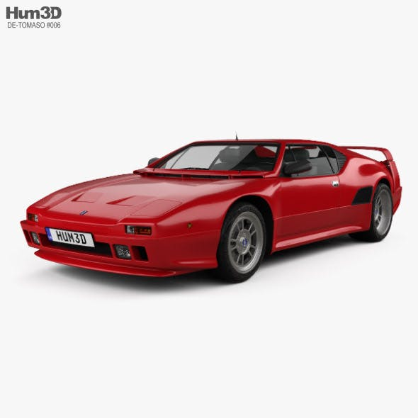 De Tomaso Pantera SI 1990 - 3DOcean Item for Sale