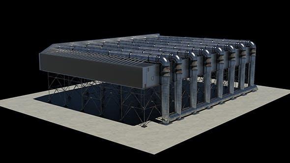 Combined Cycle Power Plant - Estación de Ciclo Combinado - 3DOcean Item for Sale
