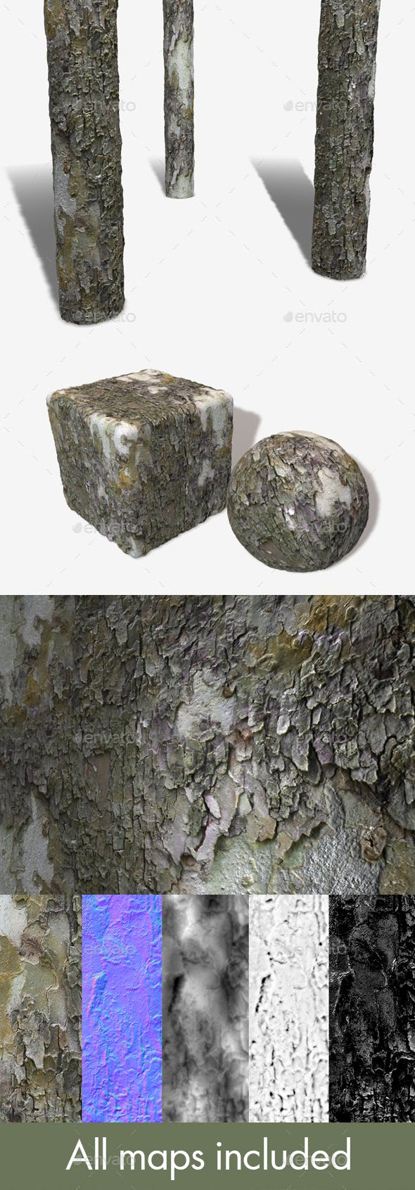Peeling Bark Seamless Texture - 3DOcean Item for Sale