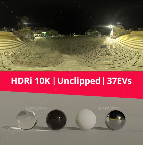 HDRi - Night, Light and Houses - 3DOcean Item for Sale