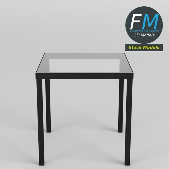 Glass top desk - 3DOcean Item for Sale