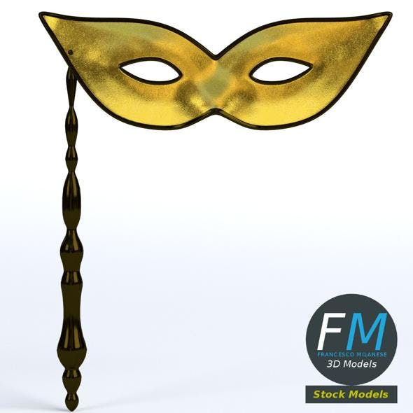 Handheld carnival mask - 3DOcean Item for Sale