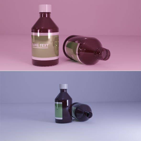 Glass Medicine Bottle