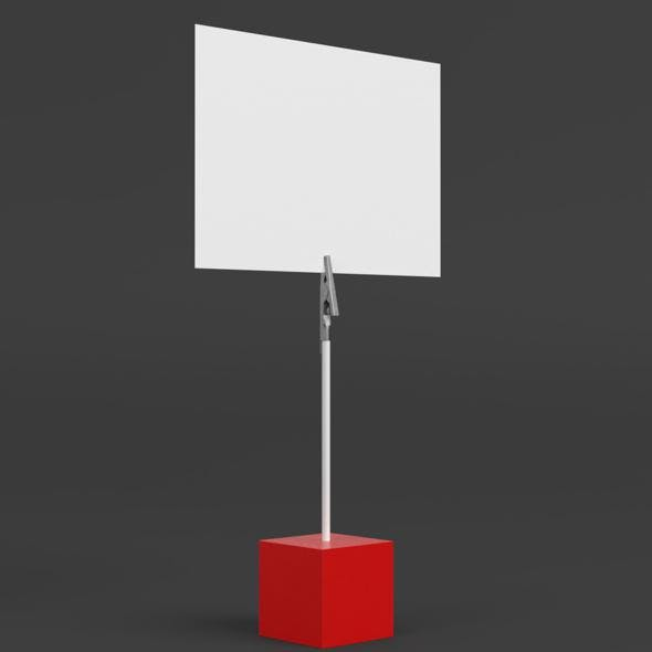 Cube card holder - 3DOcean Item for Sale