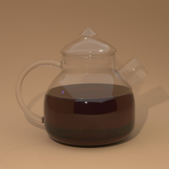 Glass kettle with cap